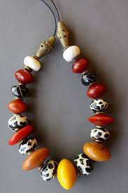 resin beaded necklace images Red bead necklace big colorful african resin bead necklace amber jpg