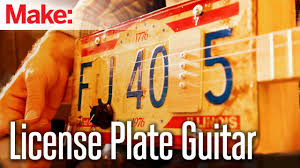 License Plate Map Weekend Projects License Plate Guitar Youtube