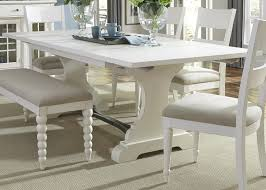 liberty furniture harbor view trestle dining table with 2 nine