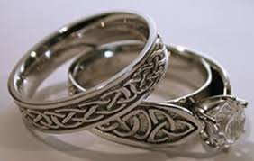 celtic wedding ring celtic wedding rings marvelous unique rings with carving elasdress