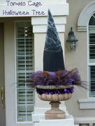 Tomato Cage Milk Jug Witch Tomato Cage Uses Pinterest by Halloween Diy Spooky Giant Witch Hats Chicken Wire Duct Tape