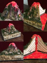 imagenes de volcanes escolares volcano model cross section manualidades de volcanes pinterest