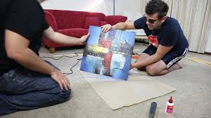 Canvas Without Frame How To Build A Wooden Frame To Mount Your Canvas Art Youtube
