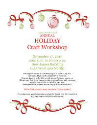 holiday craft workshop u2013 register now tooele city