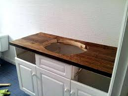 Plain Rustic Beach Bathroom Vanities Vanity Units Toronto Intended - Solid wood bathroom vanity top