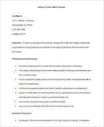 Sample Resume For Mba Finance Freshers by 100 Resume Models For Mba Freshers Resume Format In Word