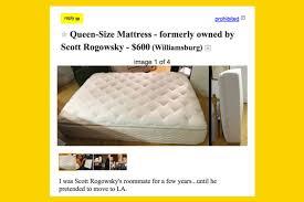 hq scott u0027s old mattress is for sale on craigslist