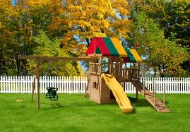 great fun tower backyard swing sets play mor swingset in ohio