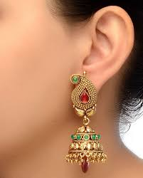 jhumki style earrings in gold traditional indian style earrings for special occasions
