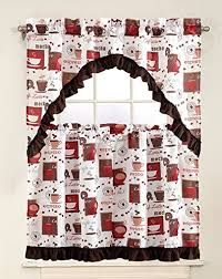 Coffee Themed Kitchen Curtains by Coffee Kitchen Curtains