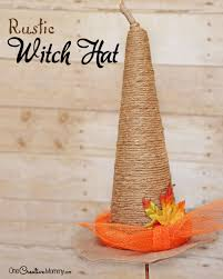Salt Dough Halloween Crafts Rustic Witch Hat Tutorial Onecreativemommy Com