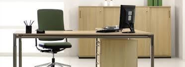 Slim Office Desk Decorating Slim Office Desk Wooden Table With Two Simple Cabinets