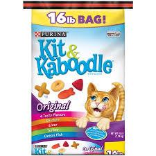 purina kit u0026 kaboodle original cat food 16 lb bag walmart com