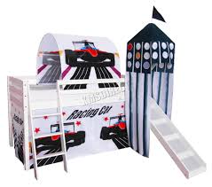 Race Car Bunk Bed Childrens Racing Car Bunk Bed With Tent And Slide Kids U0027 Room