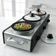 sensio ses13490 bella cucina triple slow cooker buffet and serve