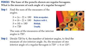 Formula For Interior Angles Of A Polygon Lesson 5 3 Polygons Faribault Public Schools Isd 656