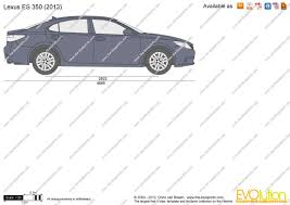 lexus family van the blueprints com vector drawing lexus es 350