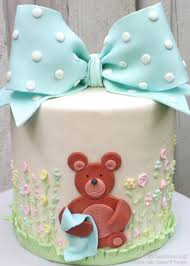 how to make a classic bow u0026 teddy bear cake video tutorial cake