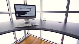 Cheap Sit Stand Desk by Uplift Eco Corner L Shape Sit Stand Desk Youtube