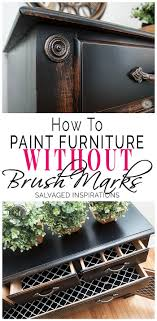 how to get a smooth finish when painting kitchen cabinets how to paint furniture without brush marks salvaged