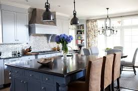 Visual Comforts Lighting Visual Comfort Lighting Kitchen Transitional With Blue Cabinets