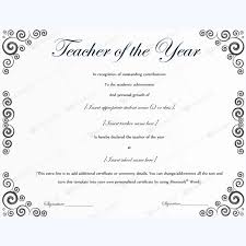 13 best teacher of the year award certificate templates images on