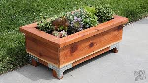 wood planter box diy done right