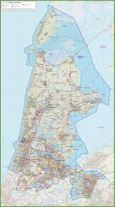 netherlands map road map