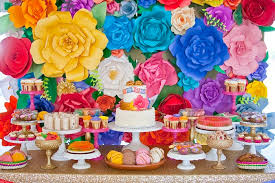 mexican baby shower colorful festive mexican baby shower dessert table of goodies