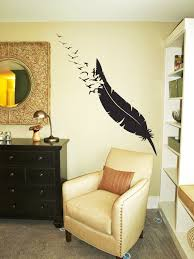 giant feather flock beautiful wall decals
