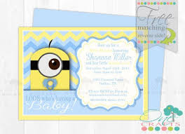 diy minion invitations minion themed baby shower invite diy baby minion printable
