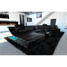 Black Sectional Sofas Luxury Sectional Sofa New York Cl Led Lights Free Shipping Today