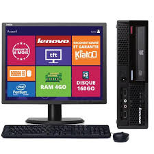 ordinateur de bureau reconditionné ordinateur de bureau lenovo thinkcenter m58 intel dual 4go ram