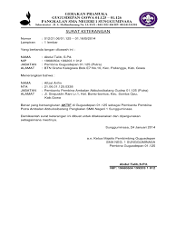 contoh surat pernyataan format a1 surat keterangan aktif
