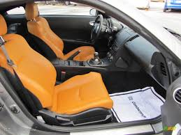 nissan roadster interior burnt orange grey and black auto interior 2005 nissan 350z touring