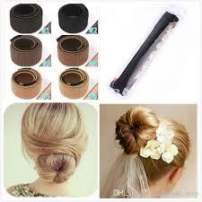 chignon tool diy hair tool bun band hair curler wig donuts hair band