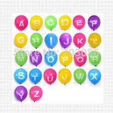 balloon delivery az 12inch a z letter matt print balloon for wedding