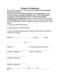 bank power of attorney template best template idea