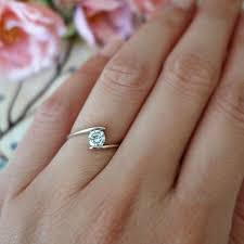 minimalist engagement ring swirl ring minimalist ring 1 2 ct solitaire ring simple promise