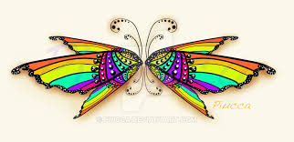 rainbow butterfly wings by piucca on deviantart