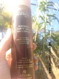 beauty professor alterna kendi dry oil micromist a quick review