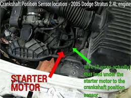 2005 jeep grand starter replacement solved location of 2 4l 2005 dodge stratus crankshaft fixya