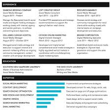 Digital Marketing Specialist Resume Resume U2013 Lauren Coker