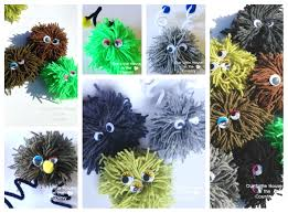 Halloween Monsters For Kids by Fuzzy Wuzzy Pompom Monsters Our Little House In The Country