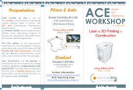 Cole Centrale De Lille Annual Civil Engineering Workshop Equipe Du Pr Zoubeir Lafhaj