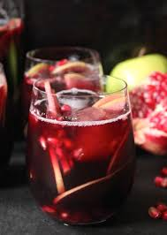 autumn sangria with apples pomegranate and blackberries recipe