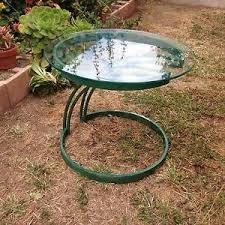 Mid Century Modern Outdoor Furniture Vintage Mid Century Modern Glass Top Patio Side Table Pick Up La