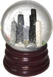 chicago musical snowglobe brown base great chicago gifts