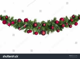 garland baubles isolated on stock photo 492114046