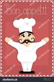 Bon Appetit Kitchen Collection Cartoon Chef Bon Appetit Sign Stock Vector 163664726 Shutterstock